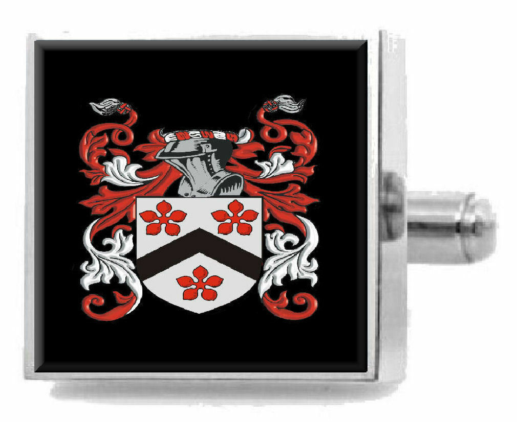 Checkley Inghilterra ARALDICA STEMMA argentoo Sterling Gemelli incisi BOX BOX BOX 567f69