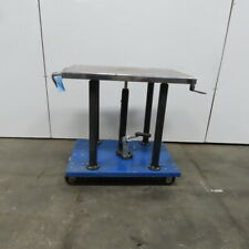 12 Ton Hydraulic Mechanical 4 Post Die Table Cart 24x36 Platform 36 To 54 Lift