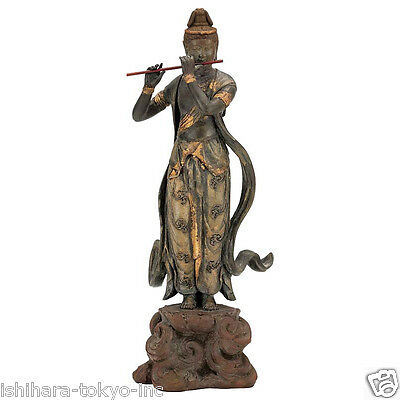 Onjyo Bodhisattva (Replica) : Bronze Buddha Statue - Japan's National Treasure