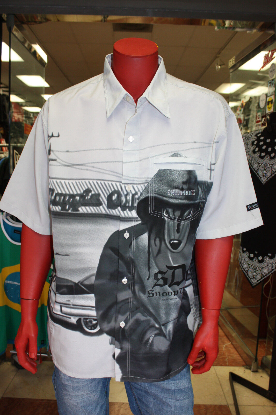 Men's Limited Edition Snoop Dogg Button Down Shirt