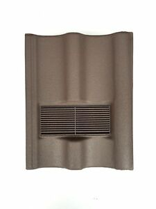 Roof-Tile-Vent-To-Fit-Marley-Mendip-Redland-Grovebury-Double-Pantile-Brown