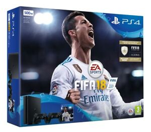 PS4 Slim 500GB Fifa 18 Plus Extra Controller