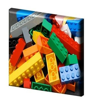 """LEGO BRICKS  - CANVAS PICTURE 10"""" x 10"""" - ONLY  £7.99 Design A"""