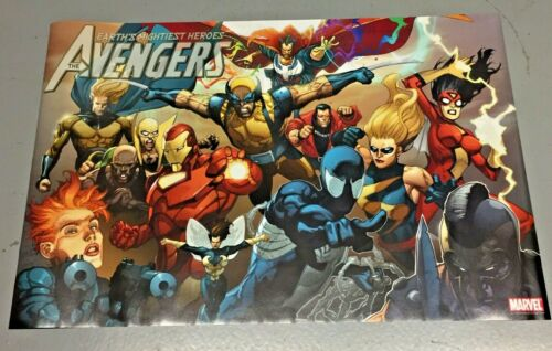 Vintage 2007 Avengers Poster art by Leinil Yu NEW SEALED 24x36 inches