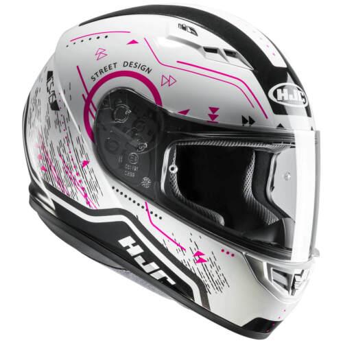 HJC CS-15 SAFA Motorrad Integralhelm Touring weiß schwarz pink