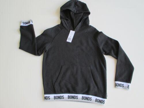 Bonds Children Tween Boys Kids Logo Pullover Hoodie Jumper size 10 Colour Black