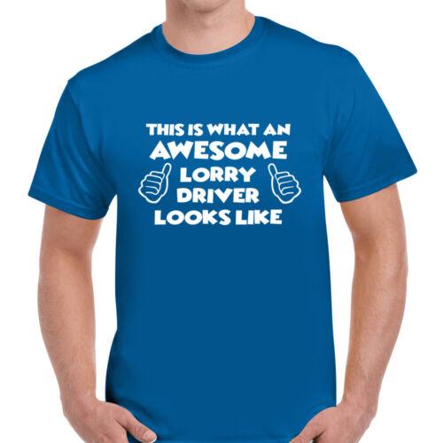 SUPERBE CAMION conducteur Drôle Homme Coton Tee T-shirt Top Cadeau Unisexe Multi Couleurs