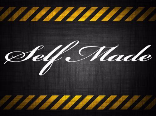 Self Made 22/'/' decal vinyl car sticker diesel windshield banner jdm honda