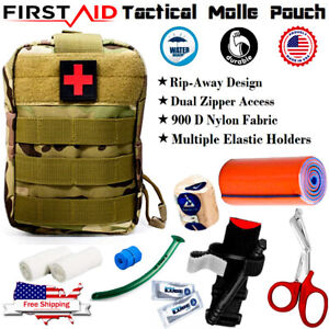 First Aid Trauma Kit Tactical Molle Pouch Military Emergency Medical Bag IFAK