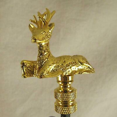 SITTING DEER  BRASS-PLATED LAMP SHADE FINIAL