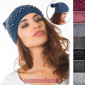 Caricamento dell immagine in corso Cappello-tricot-invernale-PON-PON-STRASS- cappellino-donna- fe6edfff099b