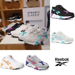 Image is loading Reebok-Classics-AZTREK-Running-Shoes-Sneakers-Black-Orange- 866dfa12e