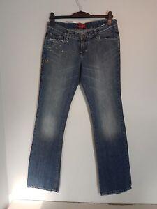 "CROSS Damen Hüft-Jeans /""E-449-024/""  Bootcut  W26-W34  blau  NEU mit Etikett"