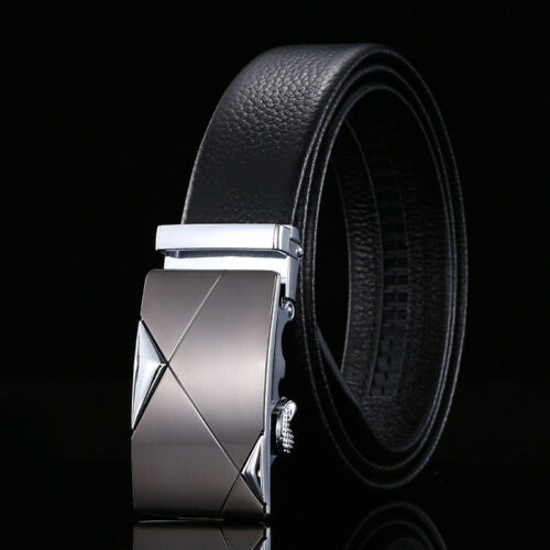 New Men/'s Belt 100/% Genuine FULL Cow Leather Soft Classic Black//Brown