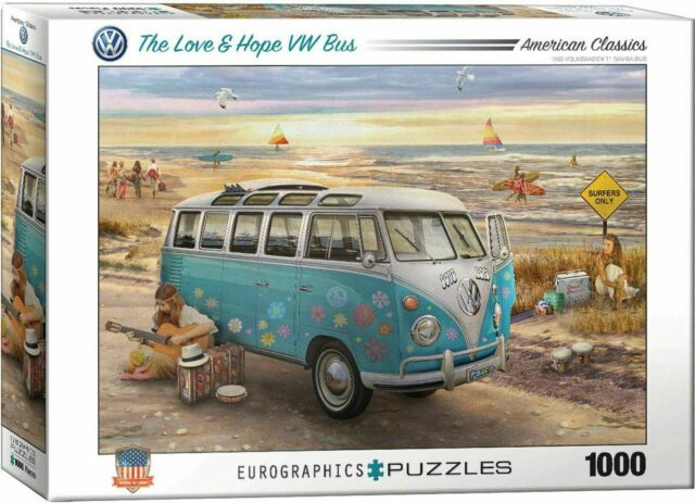 Eurographics The Love Et Hope VW Bus Puzzle 1000-Piece Jigsaw EG60005310
