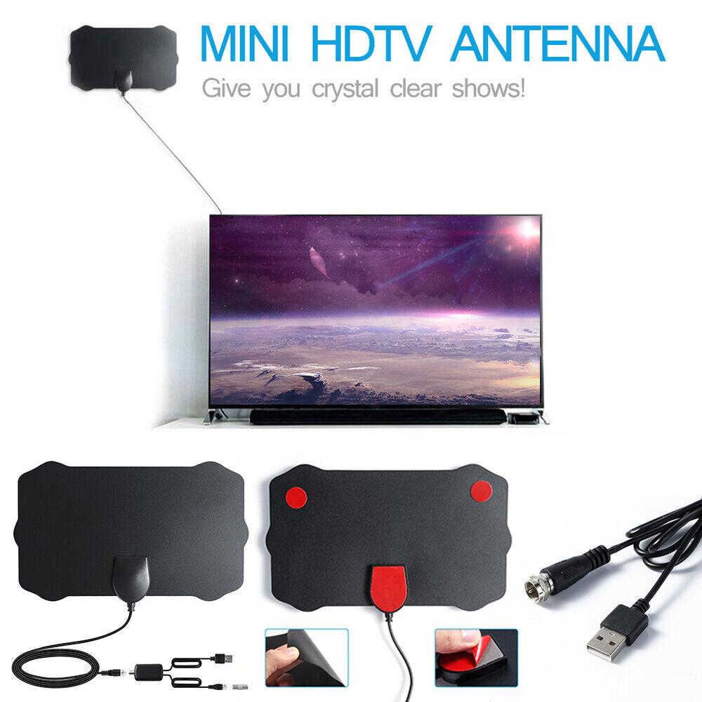 AB_ Antenna TV Indoor Digital 200 Miles Range HD 1080P Signa