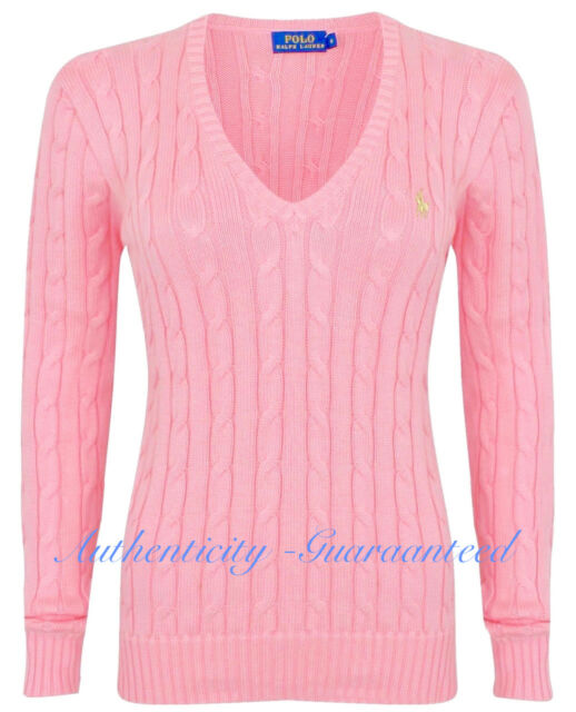 05a0125f1ef Ralph Lauren Women Kimberly Cable Knit Jumper Top 100 Authentic S ...