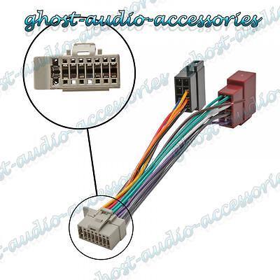 Mazo de cables ISO Stereo Radio Conector Adaptador Cable Telar Panasonic 16 Pin