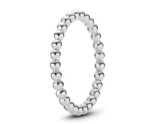 6283457ce5a1a Details about PANDORA Eternal Clouds Stackable Ring 190615CZ Brand New!