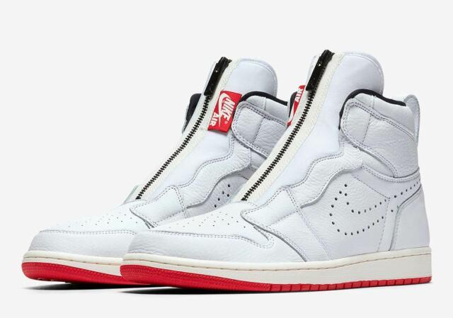 sneakers for cheap 7bbcc e67b8 Nike Air Jordan 1 High Zip White/black Men's Basketball Shoes Size 14