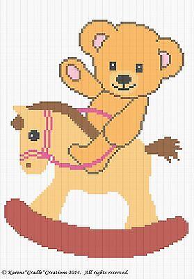 Vintage Crochet Teddy Bear Baby Blanket Pattern | Crochet teddy ... | 400x279