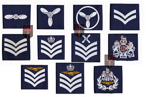 PAIR-of-Official-Royal-Air-Force-Rank-Slides-All-Ranks-RAF-SAC-LAC-aircrew-etc