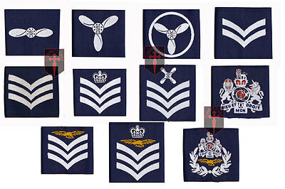 Pair of Official Flight Sergeant Royal Air Force Rank Slides RAF NEW