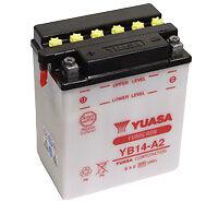 Yuasa Batterie YB14-A2 passt in Honda XLV 750 R 1983-1985 RD01 61 PS