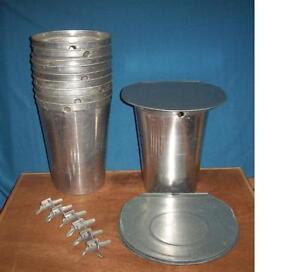 Lids COVERS 8 MAPLE SYRUP Aluminum Sap Buckets TAPS Spiles Spouts