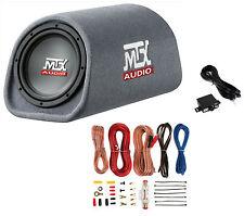 "MTX RT8PT 8"" 240W Car Loaded Subwoofer Enclosure Amplified Tube+ 8 Ga Amp Kit"