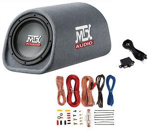 MTX-Road-Thunder-RT8PT-8-240-Watt-Powered-Vented-Ported-Bass-Tube-Amp-Wire-Kit