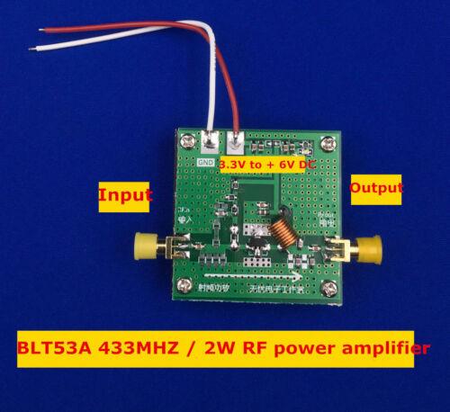 BLT53A 433MHZ power broadband 2W RF power amplifier high gain with Heat Sink