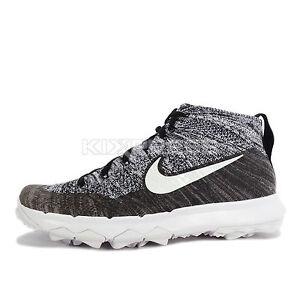 Nike WMNS Flyknit Chukka [819006-001] Women Golf Shoes Black/Grey-White