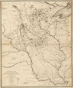 MAP-NICOLLET-1843-HYDROGRAPH-MISSISSIPPI-RIVER-REPLICA-POSTER-PRINT-PAM1151