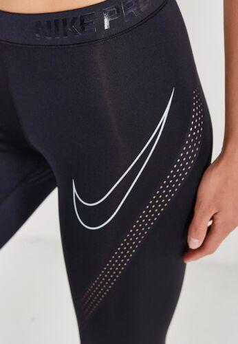 Pro taglia allenamento Running Xs 888394 donna Nike nero Hypercool Calzamaglia bianco 010 da pxaYg5qq
