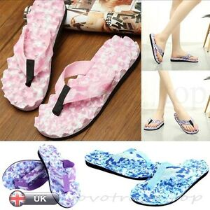 df9dfd532c8e Hot Summer Womens Ladies Beach Flip Flops Flat Slippers Massage ...