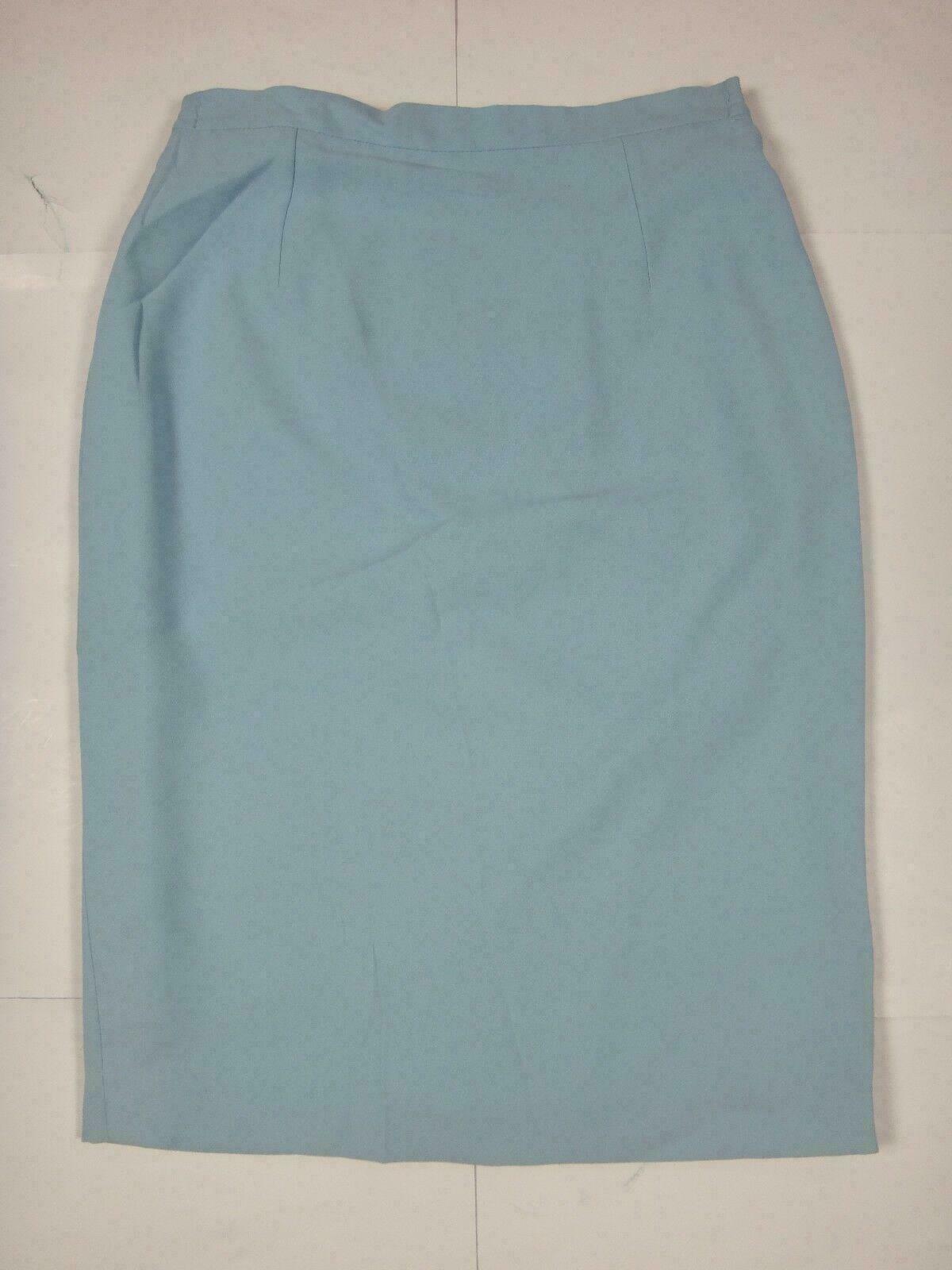 12596 Womens Skirt DEVERNOIS Size 38 Light Blue