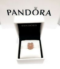 PANDORA Womens 14k Rose Gold & Sterling Silver Filled With Romance Charm