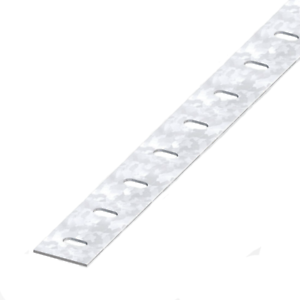 Details about Galvanised Steel Slotted Flat Bar Repair Protector Strip  Protector Trim Profile