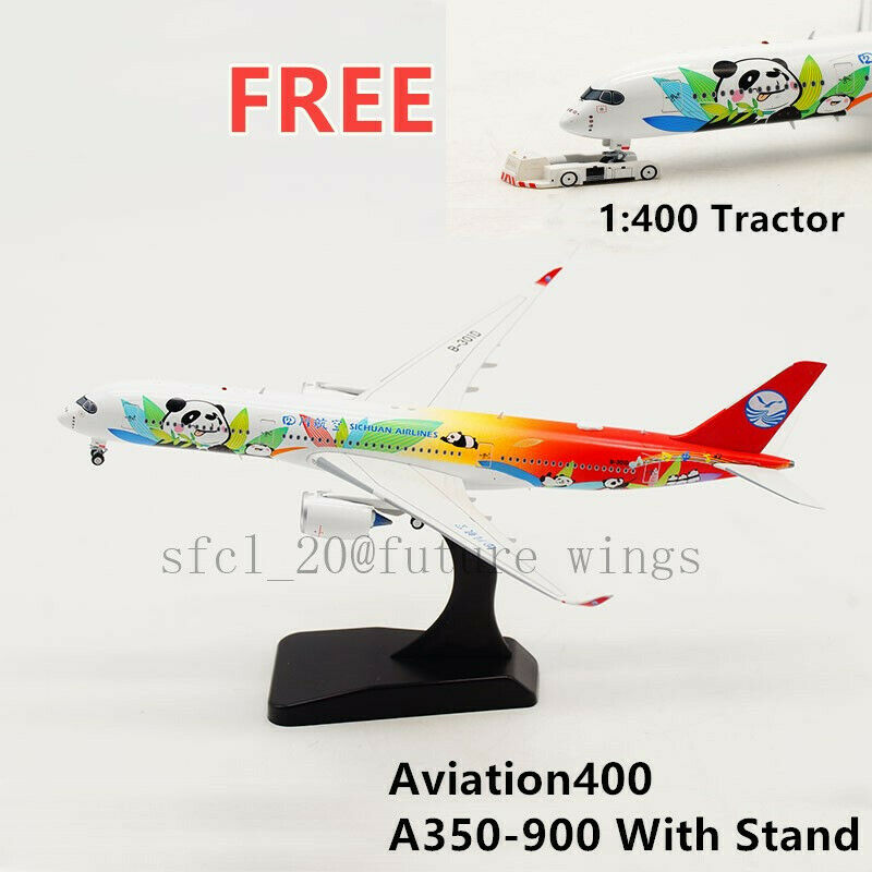 1 400 Aviation AV4007 Sichuan Airlines A350-900 B-301D Free Tractor+Stand