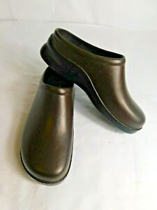 KLOGS-Mens-Edge-Chestnut-Brown-Leather-Slip-On-Comfort-Shoes-Clogs-Size-9
