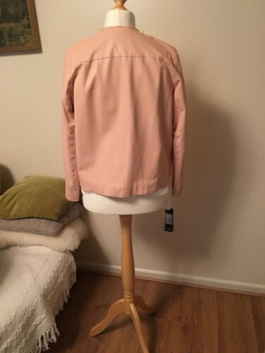 Sizeuk12 Women's Leather it44 00 Jacket us8 Pinko rrp£370 Pink xIwFId