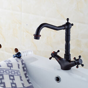 """8"""" Bathroom Sink Faucet Oil Rubbed Bronze Single Hole Two Handle Mixer Taps"""