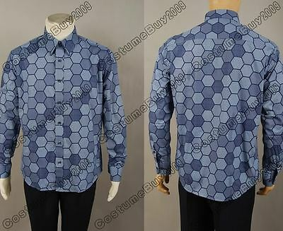 Batman Dark Knight Rise Arkham Asylum Joker Hexagon Shirt Cosplay Costume Suit