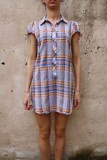 DENNY ROSE MADE IN ITALY MAXI Camicia/Vestito Multi Colore Verificato Tartan Cotone M