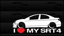 I Love My SRT4 Sticker Decal Heart Mopar Dodge Neon SRT - 4 Turbo Race Car