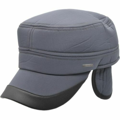 High Quality Black,Navy,Grey Water Proof Nylon Warm Cap With Ear Flap IN UK