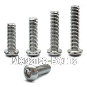 M8 x 10mm BUTTON HEAD ALLEN KEY BOLTS SOCKET SCREWS STAINLESS STEEL ISO 7380
