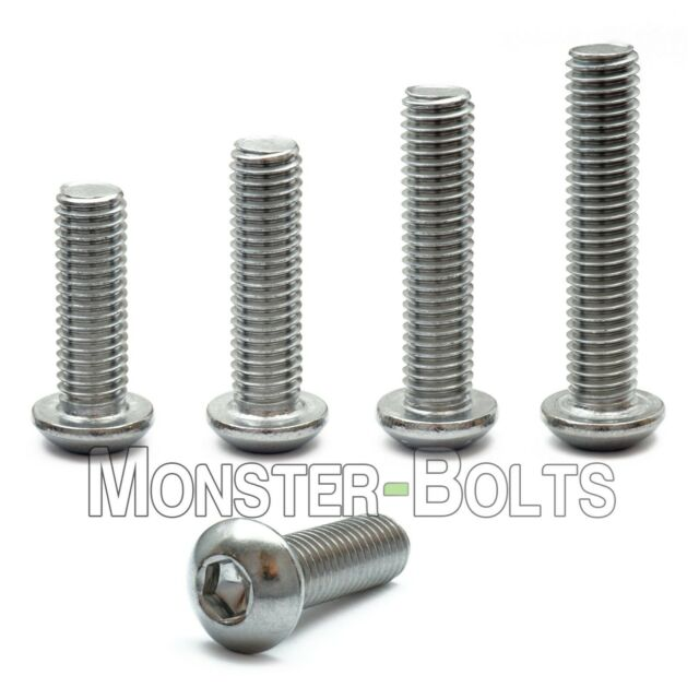 5 Pcs M8*16mm Stainless Steel Button Head Socket Cap Screws Thread M8 16mm Long