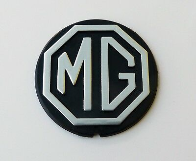 MGB & MGBGT Black & Silver Steering Wheel Road wheel Centre Badge, MG CHA747